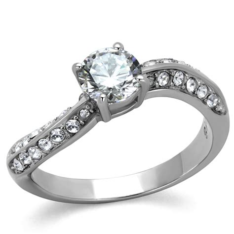 Wholesale Rings by Cje2171 Wholesale Stainless Steel Cz Engagement Ring