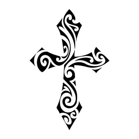cross silhouette tattoo tribal cross drawing at getdrawings free for