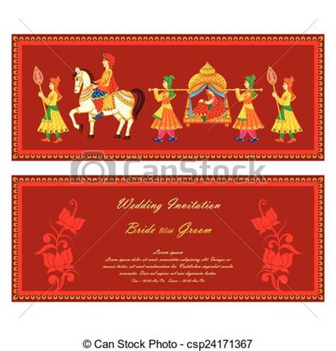 Wedding Cards Clip Free by Vector Illustration Of Indian Wedding Invitation Card Clip