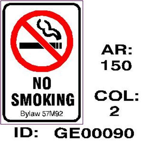 no smoking signs calgary general signs