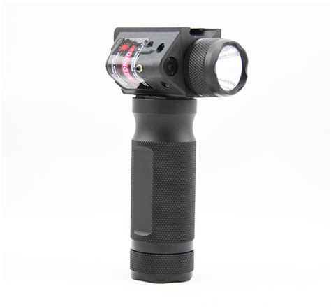 vertical grip with light tactical combo vertical foregrip flashlight red laser