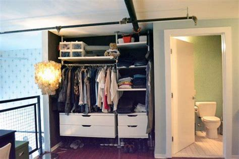 No Closet Space Solution by 13 Ways To Make Your Room Without A Closet Work