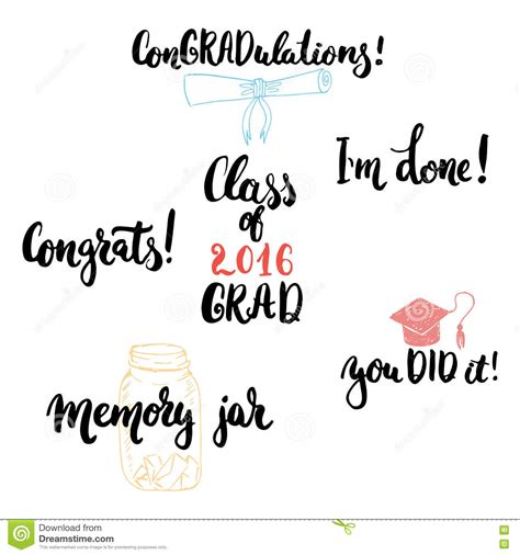 typography classes typography lettering phrases set to class of 2016 grad modern calligraphy for