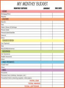 Monthly Budget Planner Template 4 Printable Budget Planner Monthly Bills Template