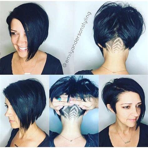 asymmetrical shaved bob shaved nape asymmetrical bob cut hair by