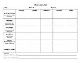 Infant Lesson Plan Template by 39 Best Images About Lesson Plan Forms On