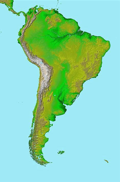 south america map rivers south america with rivers and lakes included