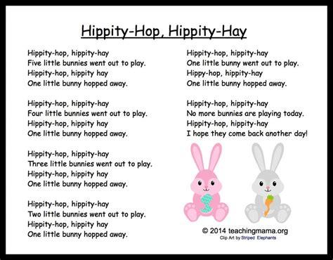 5 Bunny Chants for Preschoolers