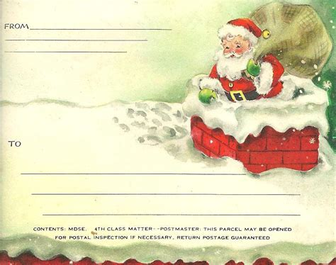 printable card from santa christmas printable tags sweetly scrapped s free