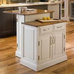 home styles woodbridge two tier island white oak kitchen