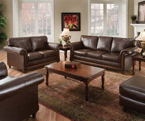 Leather Sectionals San Diego by San Diego Coffee Leather Sofa Loveseat Living Room Set