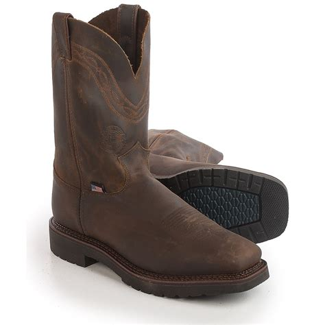 justin shoes justin boots sunderland crazyhorse cowboy work boots for