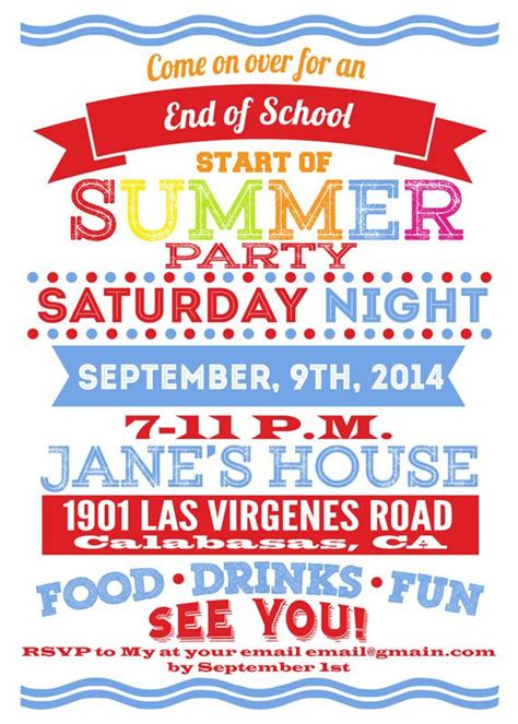 Come With Me End Of Summer Bbq Invites by 25 Best Ideas About Summer Invites On