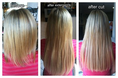 haircut before extensions hair extensions before after install and after final