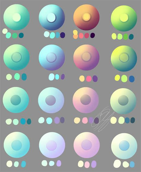pastel and non pastel eye swatches by overlord jinral on deviantart
