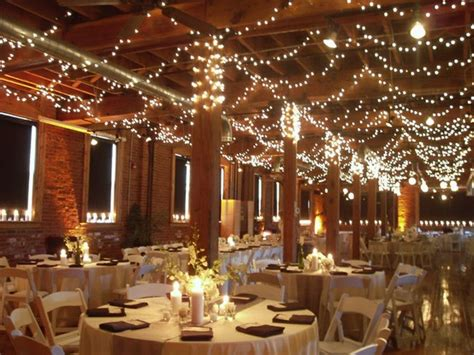 wedding ceiling decorations swagged twinkle lights