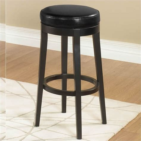 backless black swivel bar stools armen living 26 quot backless swivel counter stool in