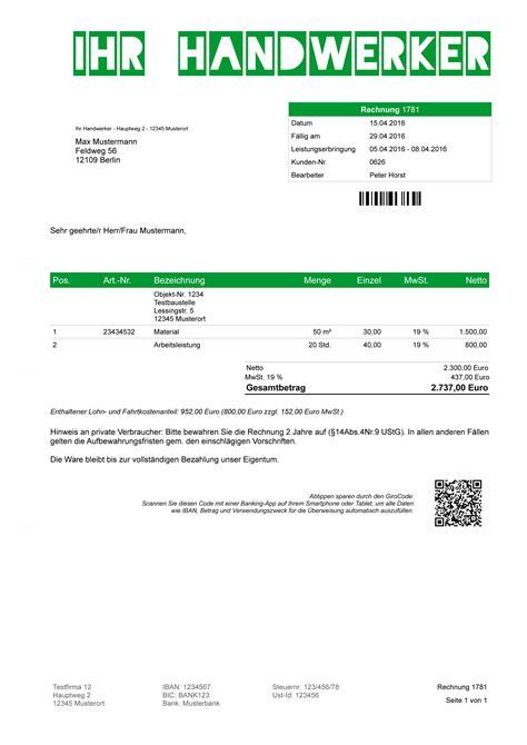 Muster Rechnung Handwerk Faktura Dachdecker Software Programm Rechnungsprogramm F 252 R Handwerker Baugewerbe Ebay