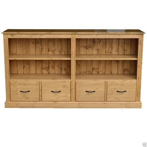 6 foot black bookcase solid pine 6ft wide bookcase sideboard bookshelf