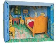 Gogh Bedroom Lesson Plan Diarama On Dioramas Diorama And Peep Show