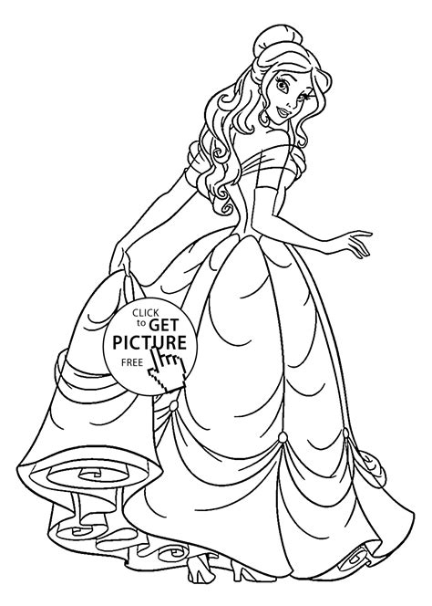 Beauty Princess Coloring Pages For Kids Printable Free Www Princess Coloring Pictures