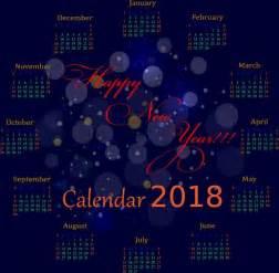 Calendar 2018 Background 2018 Calendar Background Violet Bokeh Design Circle