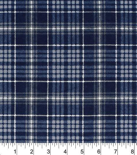 grey flannel upholstery fabric snuggle flannel fabric 42 quot navy grey plaid joann joann