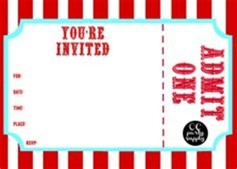 printable birthday invitations admit one vintage circus carnival birthday party printable ticket