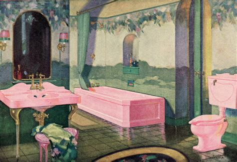 period in pink preserving america s pink bathrooms the 1928 standard bathroom opulent pink fixtures and a
