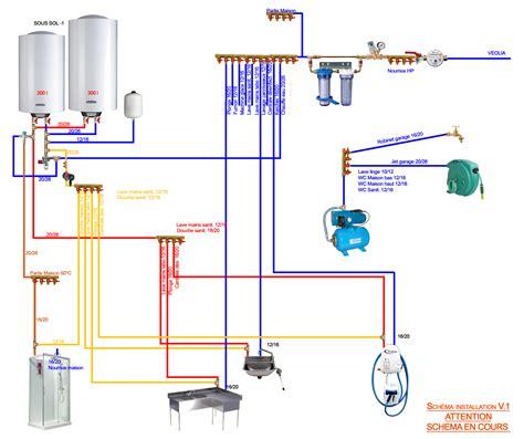 Brancher 2 Robinets Sur Une Arrivée D Eau by Projet Installation Multicouche Page 1 Installations