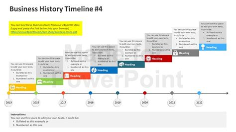timeline presentation powerpoint template business history timeline editable powerpoint template