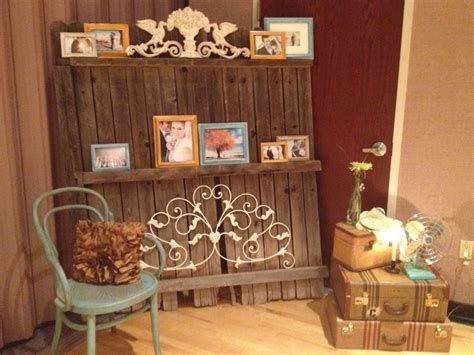 Old wood fence; shabby chic iron accents   DIY Shabby Chic
