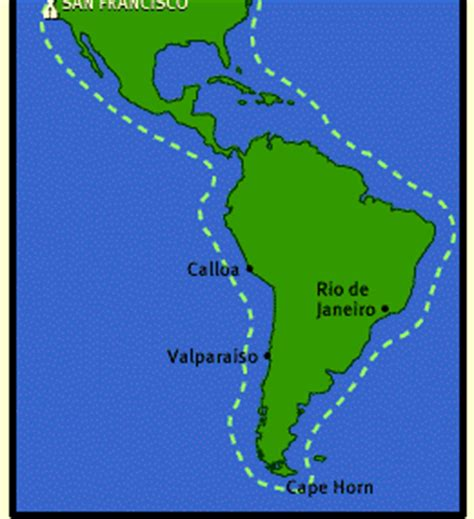 south america map cape horn cape horn