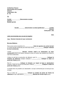 Lettre De Notification Entreprise Retenue Modele Document Commercial