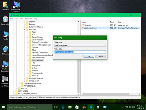 wallpaper windows 10 registry how to change default lock screen image in windows 10