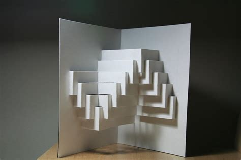 paper card wave template origami wave kirigami hena wang portfolio kirigami pop up
