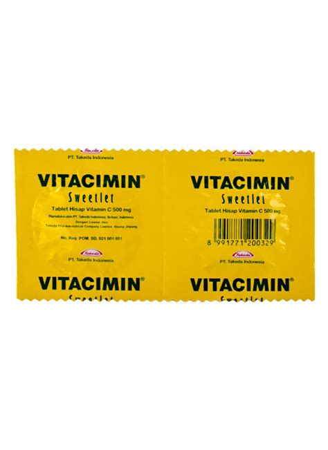 Vitacimin Tablet Hisap Vitamin C 500mg Original Vitacimin Tablet Hisap Vitamin C 2 S Str Klikindomaret
