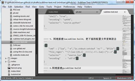 sublime text 3 material theme sidebar sublime text usage
