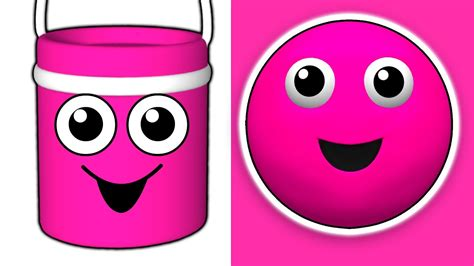 the color pink song quot the paint is pink quot 3d nursery song teach babies