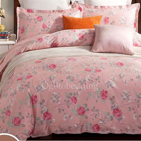 affordable pink floral pretty queen size comforter sets