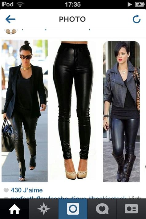 widow the high waisted faux leather pant in black