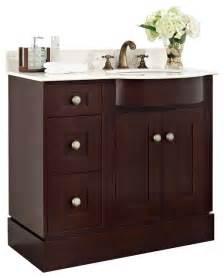 cherry wood veneer vanity set in coffee 36 quot x22