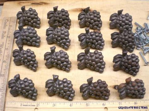 Grape Kitchen Knobs by 16 Rustic Grape Drawer Knobs Cabinet Pulls Iron Grapes Ebay