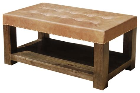 upholstered bench coffee table solid wood leather upholstered coffee table bench