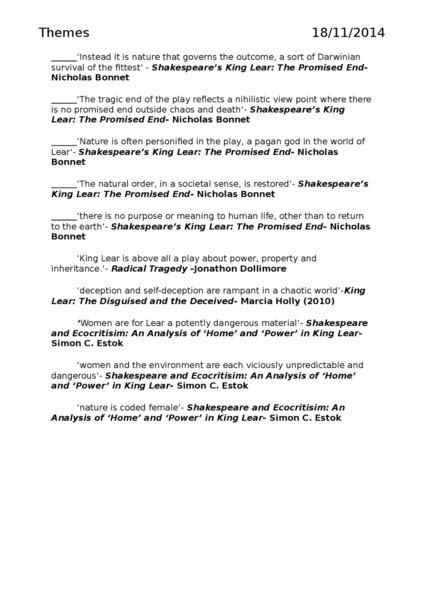 themes and techniques in king lear images and themes in king lear oxbridge notes the united