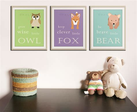 Nursery Wall Decor Nursery Playroom Children Wall Decor By Wallfry