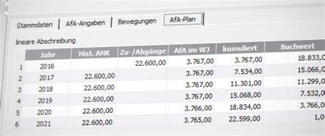 afa tabellen lexware anlagenverwaltung pro die netzwerkf 228 hige l 246 sung