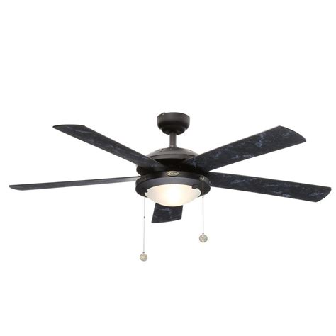 black ceiling fans with lights westinghouse comet 52 in indoor matte black finish
