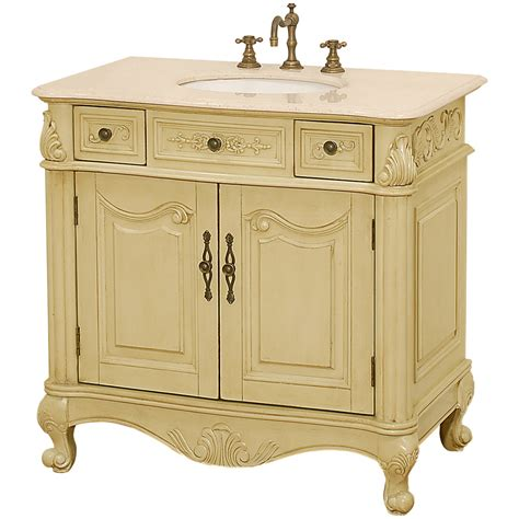 36 antique white bathroom vanity colonia 36 quot antique bathroom vanity antique white w ivory marble counter free shipping