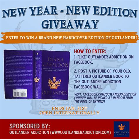 New Giveaway - outlander addiction 187 new year new edition giveaway